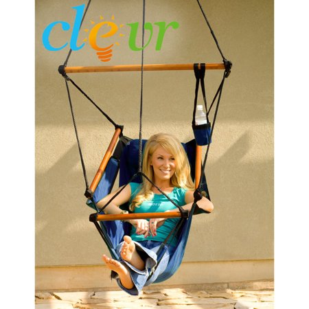 Clevr Indoor Outdoor Hammock Chair Swing Chair Porch Lounge Hanging Patio Tree Sky