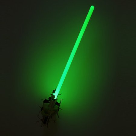 3DLightFX Star Wars Yoda Hand with Lightsaber 3D Deco - Infant Yoda