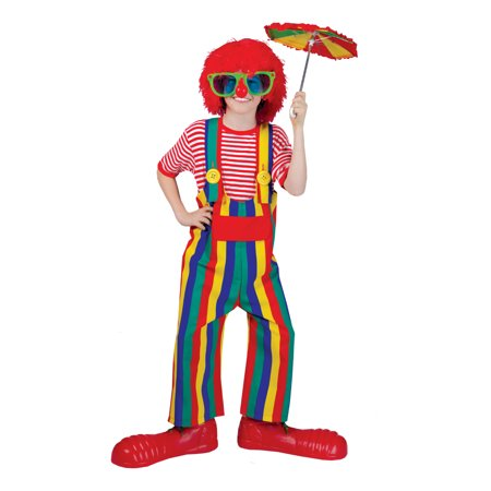 Striped Clown Overalls Only Child Halloween Costume, One Size, Up to 10 (Costumes With Overalls)