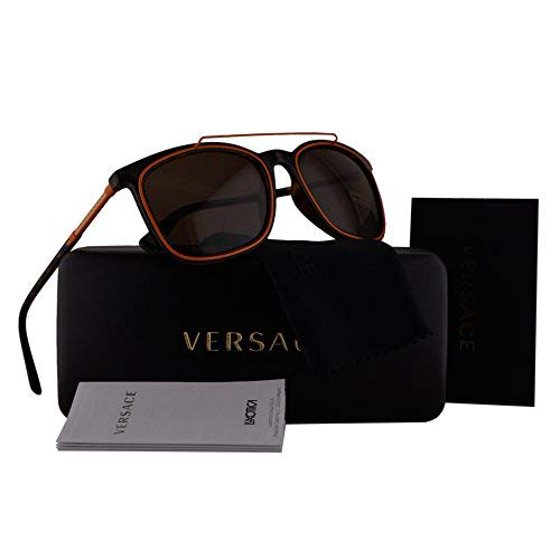 7b16a24760307 Versace - Versace VE4335 Sunglasses Havana w Brown Lens 10873 VE 4335 -  Walmart.com