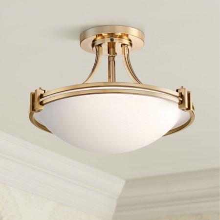 Possini Euro Design Possini Euro Deco 16 Wide Warm Brass Ceiling