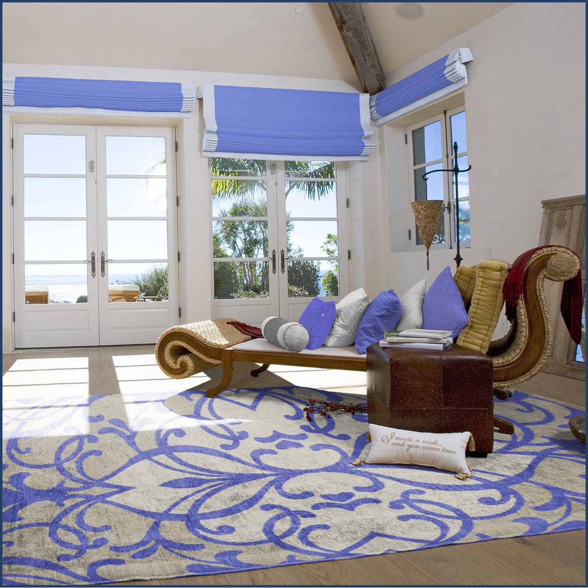 Spaces Home and Beyond Fleur de Lys Area Rug
