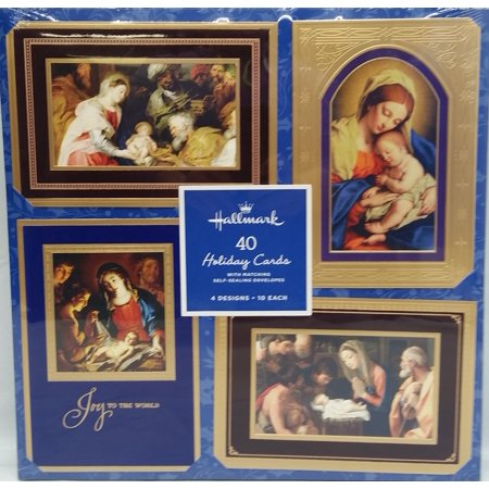 Hallmark 40-Count Religious Christmas Holiday Cards with Envelopes