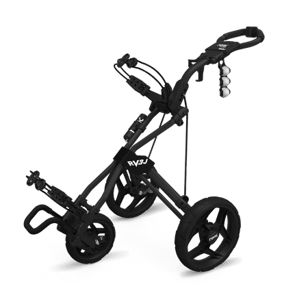 Rovic by Clicgear RV3J Junior 3-Wheel Golf Push Cart, Charcoal