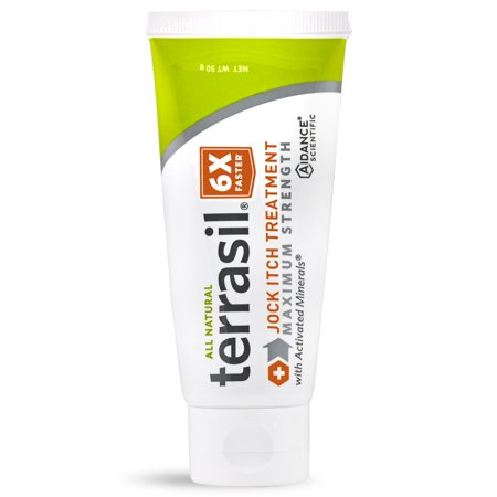 Terrasil® Jock Itch Treatment MAX Strength with All-Natural Activated Minerals® Relieves Jock-Itch 6X Faster (50gm Tube
