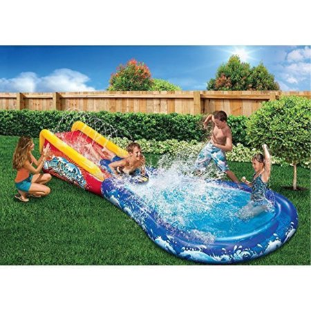 Banzai Wave Crasher Surf Belly Board Water Slide into Pool for Kids 5 - 12 Blow Up Outdoor Summer Fun - Blow Up Noisemakers
