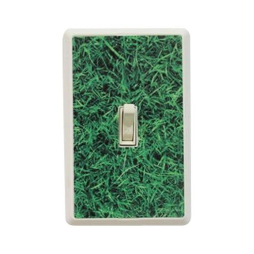 New Face Socket Covers NFSC100SWG White Single Light Switch with Grass Skin