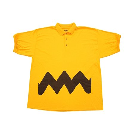 Peanuts Charlie Brown Polo Button Up Costume T-Shirt - Charlie Halloween