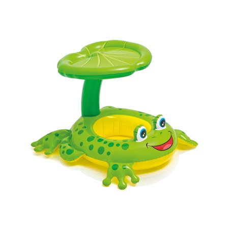 Intex Froggy Friend Shaded Canopy Baby Kiddie Pool Floating Raft | (Floating Pond Sticks)
