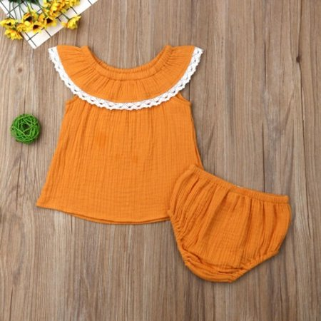 Newborn Baby Girls Infant Lace Clothes Dress Top Shorts Briefs Outfits Sunsuit - Halloween Briefe