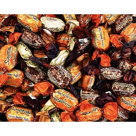 SweetVille Chewy Butter Toffee Candy, Chocolate Coconut Coffee Peanut Orange Filler (Pack of 2 Pounds)