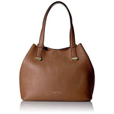 Calvin Klein rebecca pebble hobo handbag brown