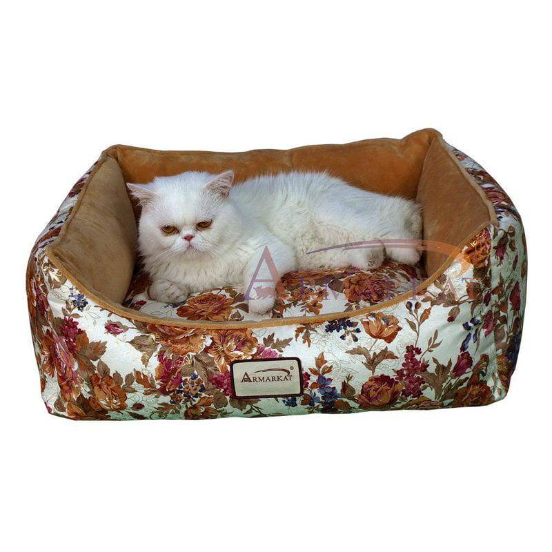 """Armarkat Rectangle Rose Pet Bed-Size:14""""D x 23""""W x 8""""H"""