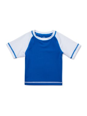 Wonder Nation Baby Toddler Boy Short Sleeve Swim Rash Guard