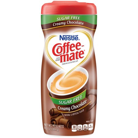 (3 pack) COFFEE MATE Sugar Free Creamy Chocolate Powder Coffee Creamer 10.2 oz. Canister