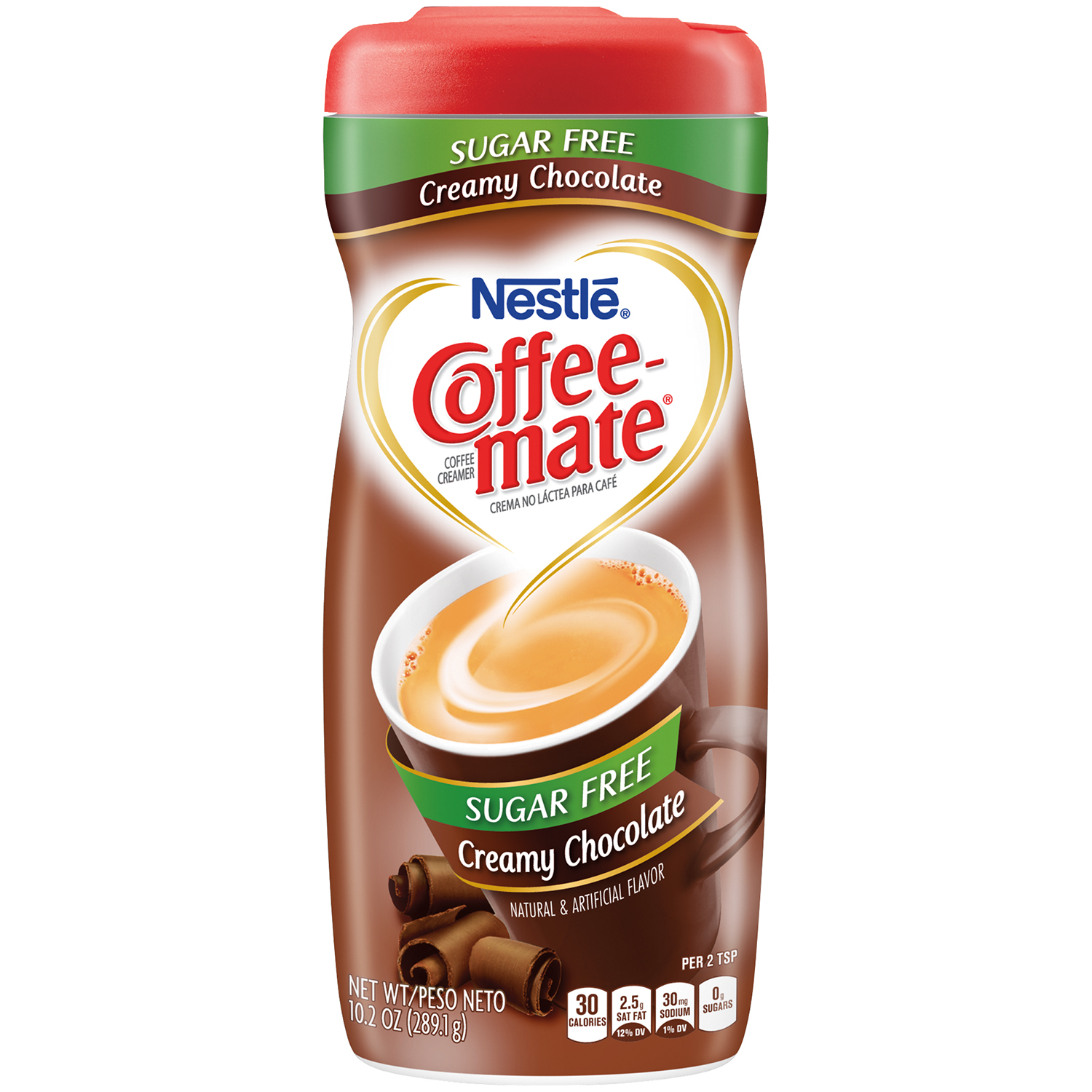 (6 Pack) COFFEE-MATE Sugar Free Creamy Chocolate Powder Coffee Creamer 10.2 oz. Canister