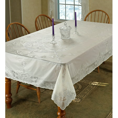 Vinyl Lace Betenburg Design Tablecloth - Lace Table Cloths