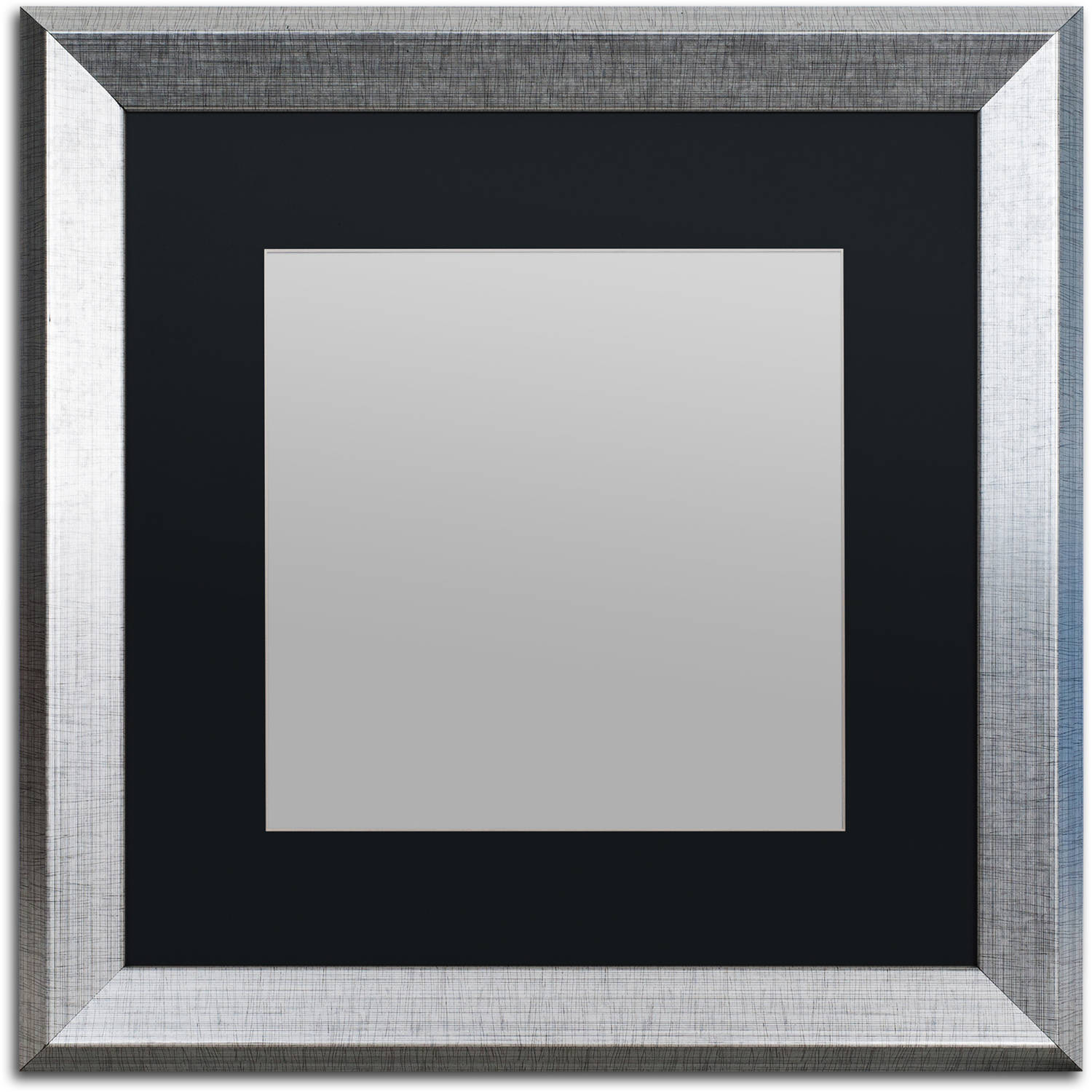 Great fo 11x14 Black Two-Step Wood Frame w// a Silver Accent /'Pinstripe/' Thin