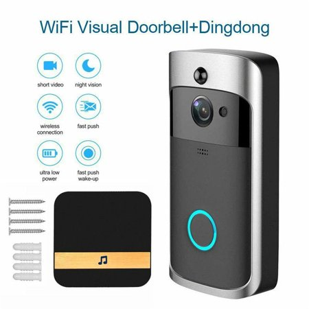 WiFi Smart Video Doorbell With Chime For Home Security, 16GB Memory Real-Time Live View And Two-Way Talk Night Vision, PIR Motion Detection App Control For iOS And (Best Live News App For Android)