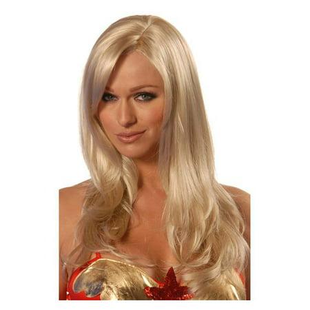 Deluxe Sunny Blonde Divine Adult Wig - Walmart.com 3ece6f407846