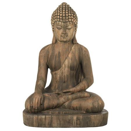 (John Timberland Sitting Buddha Faux Sandstone 29 1/2