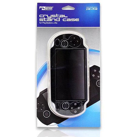 KMD Crystal Stand Case For Sony PlayStation Vita PCH-1000, Clear