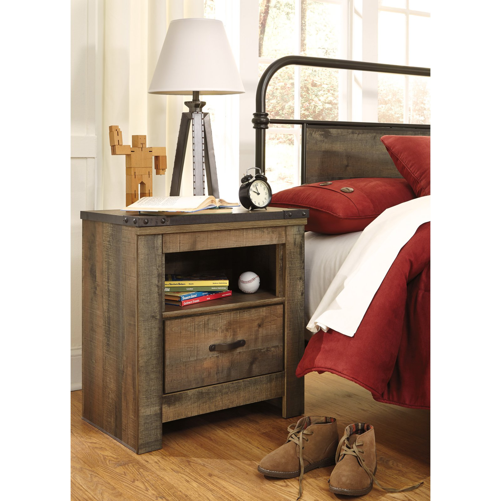Signature Design by Ashley Trinell Rustic Night Stand