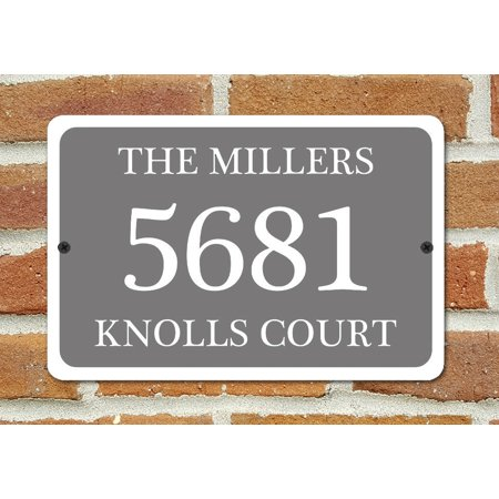 - Traffic Signs - Customized House Number Plaque Home Address Sign Heavy Duty 10 x 7 Aluminum Metal Sign Street Weather Approved Sign