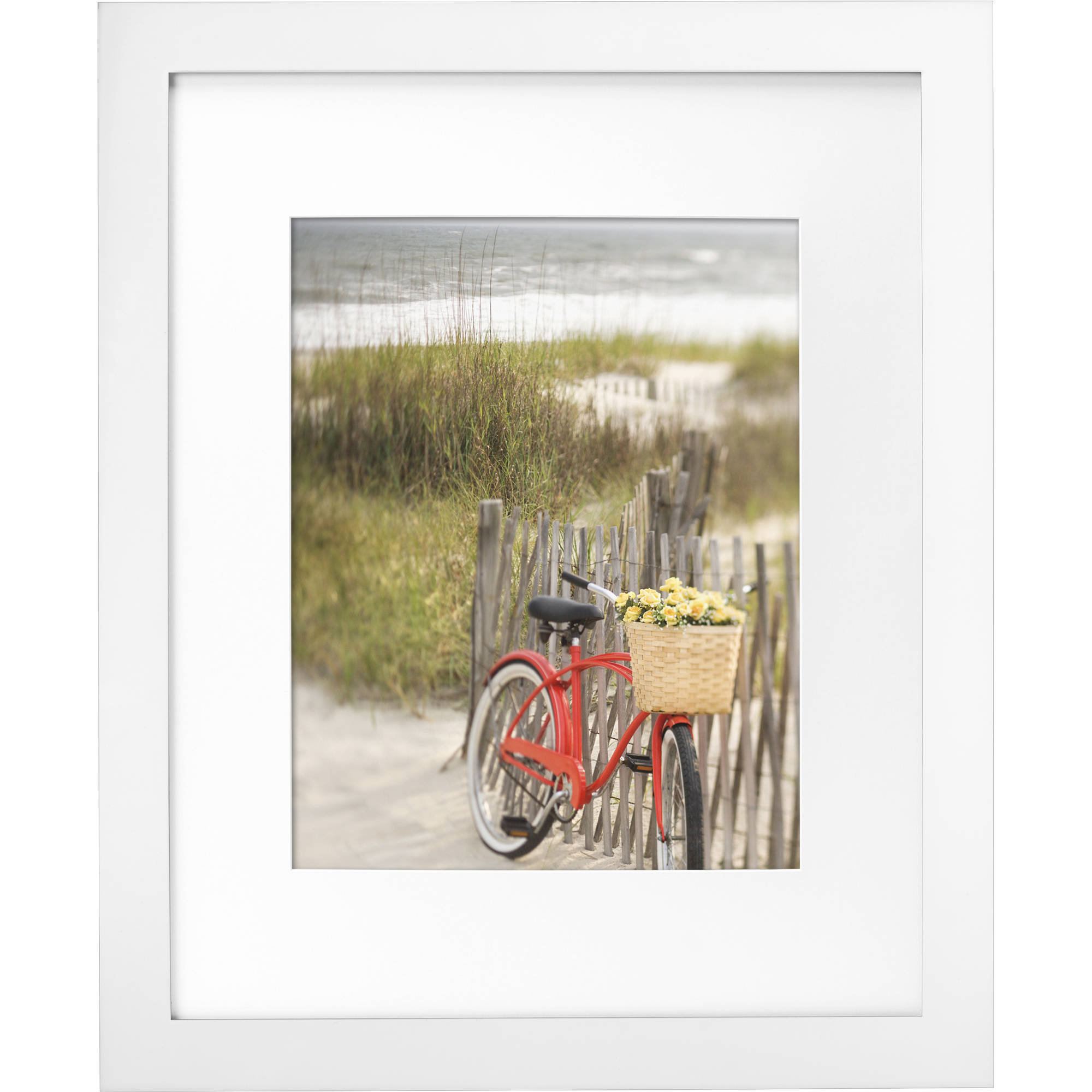 "Mainstays Museum 16"" x 20"" Matted to 11"" x 14"" Picture Frame, White"