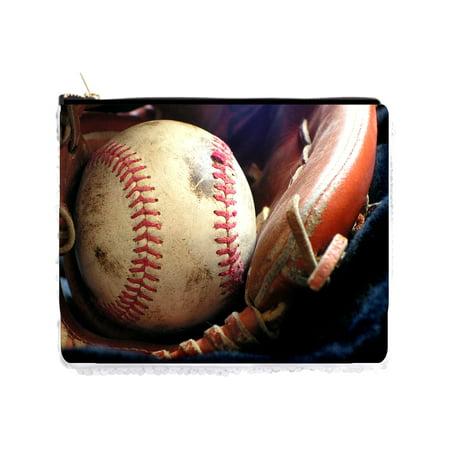 Baseball in a Mitt Sports Holder Pouch Gold / Silver (Schwarze Sonnenbrille Mit Gold)