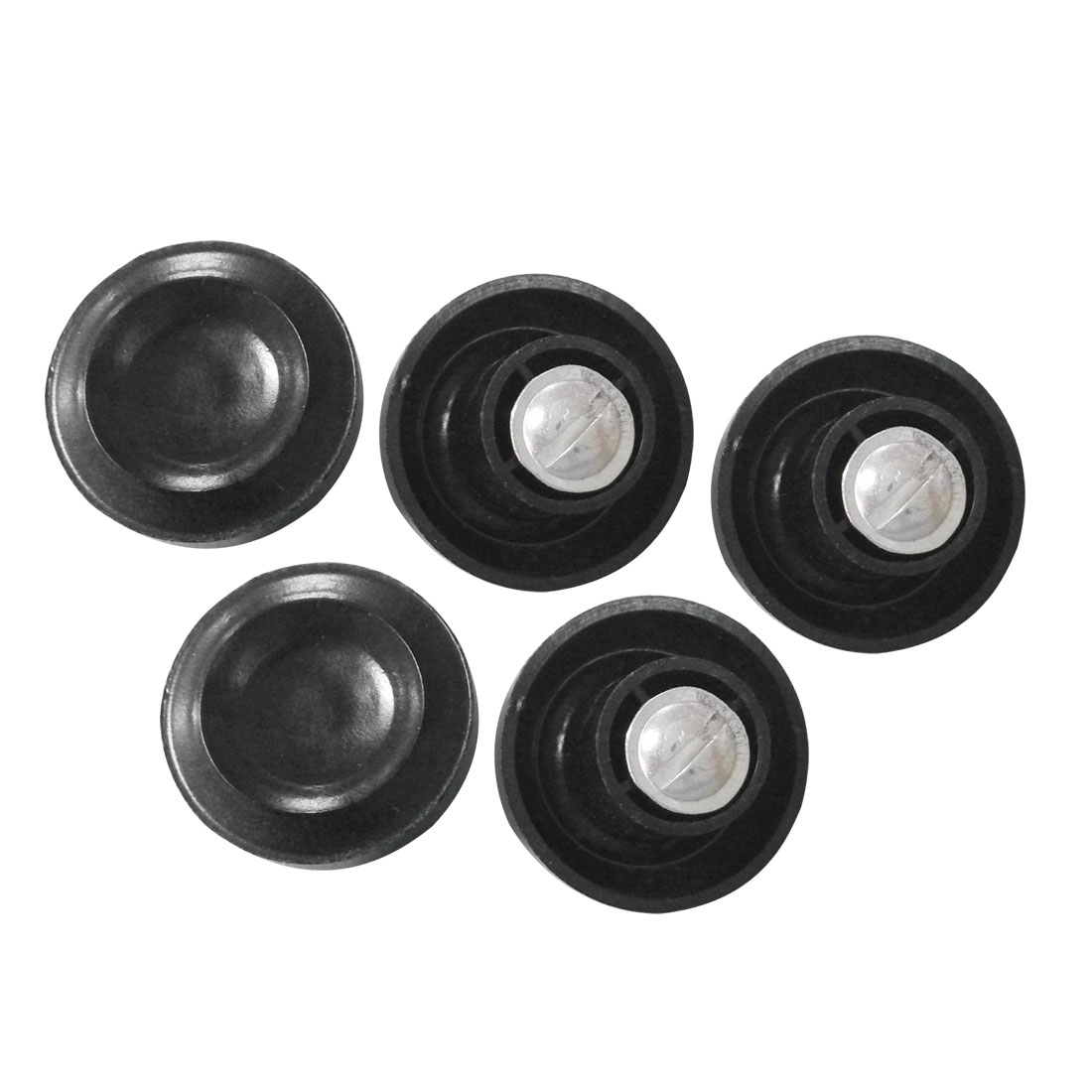 "5 x 1"" Black Plastic Cooking Frying Pan Lid Cover Knob Handle"