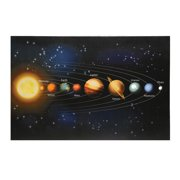 Battery operated wall lights led solar system canvas print light up wall art mozeypictures Image collections