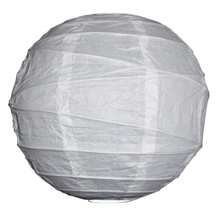 Asian Import Store Distribution 12 in. White Irregular Ribbing Paper - Sky Lanterns In Store