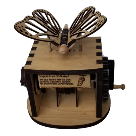 Butterfly Automata Animated Wood Building Kit](Wood Building Kits)