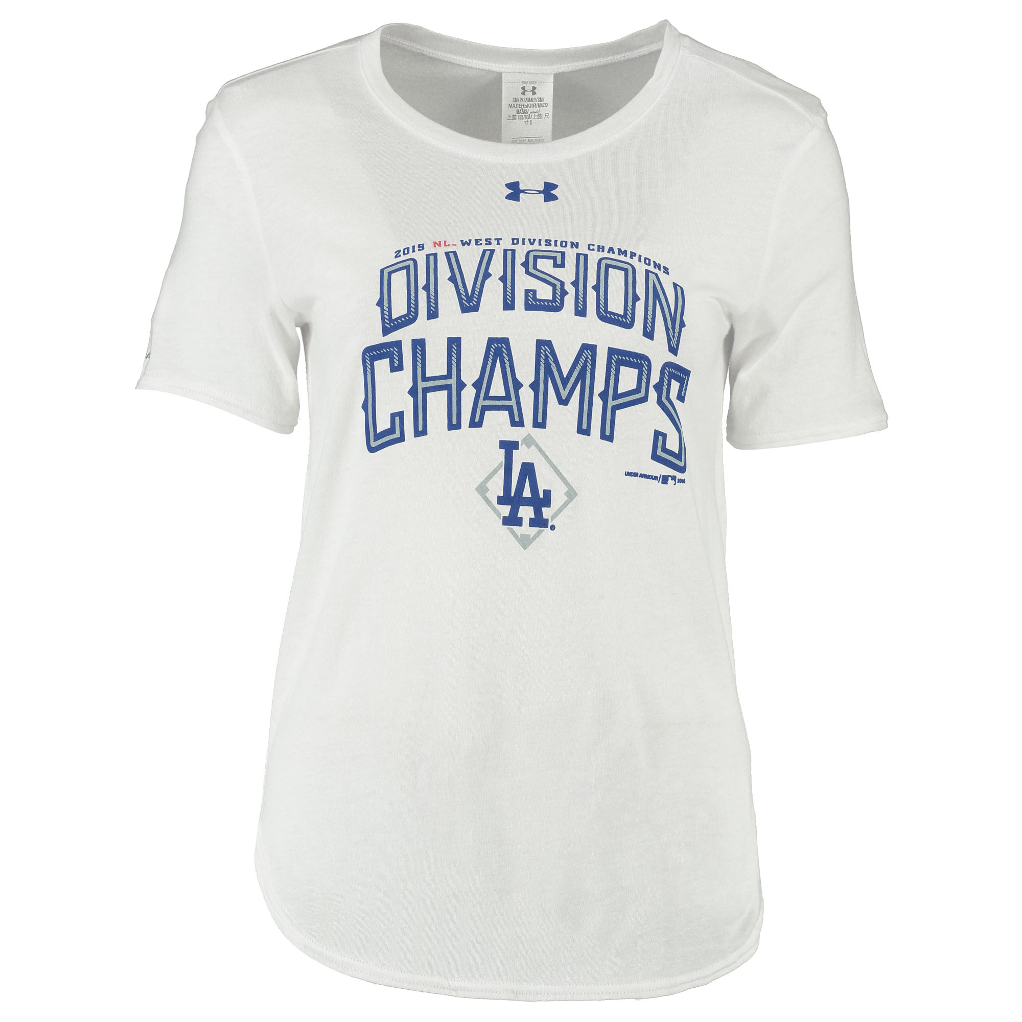 Los Angeles Dodgers Under Armour Women's 2015 Division Champions T-Shirt - White