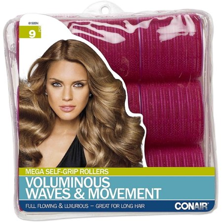 Conair Self Grip Rollers (Conair Voluminous Waves & Movement Mega Self Grip Rollers 9 ea (Pack of)