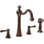 Kitchen Faucet Lever Handles With Sprayer Oil Rubbed Bronze