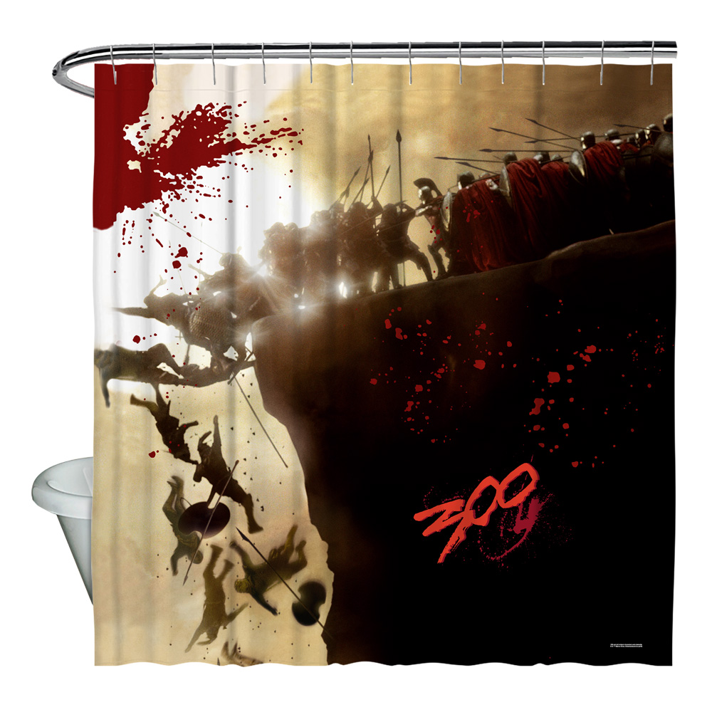 300 Cliff Shower Curtain White 71X74