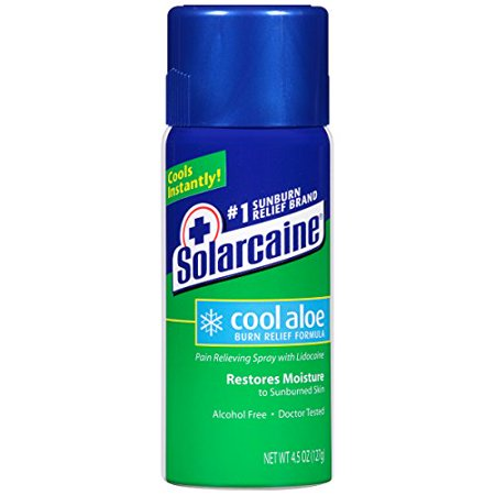 Solarcaine Aloe Extra Burn Relief Spray with Lidocaine 4.5oz Each