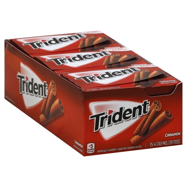 Mondelez Trident Gum, 15 ea