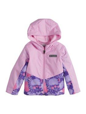 Toddler Girl's 2T-4T Columbia Steens Mt Overlay Zip Up Hoodie Pink Purple Floral