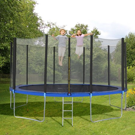 15FT Trampoline Combo Bounce Jump Safety Enclosure Net W/Spring Pad Ladder - image 1 of 10