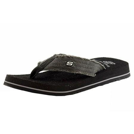 4a10bb08d1fc4f Skechers - Skechers Men s Tantric Fray Fashion Black Flip Flop ...