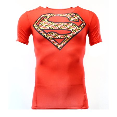 Under armour new red mens size small s superman for Under armour shirts at walmart