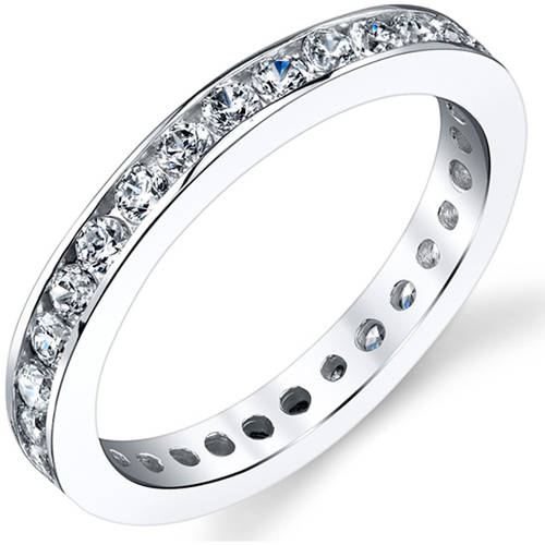 Oravo 1.50 Carat White CZ Rhodium-Plated Sterling Silver Engagement Ring