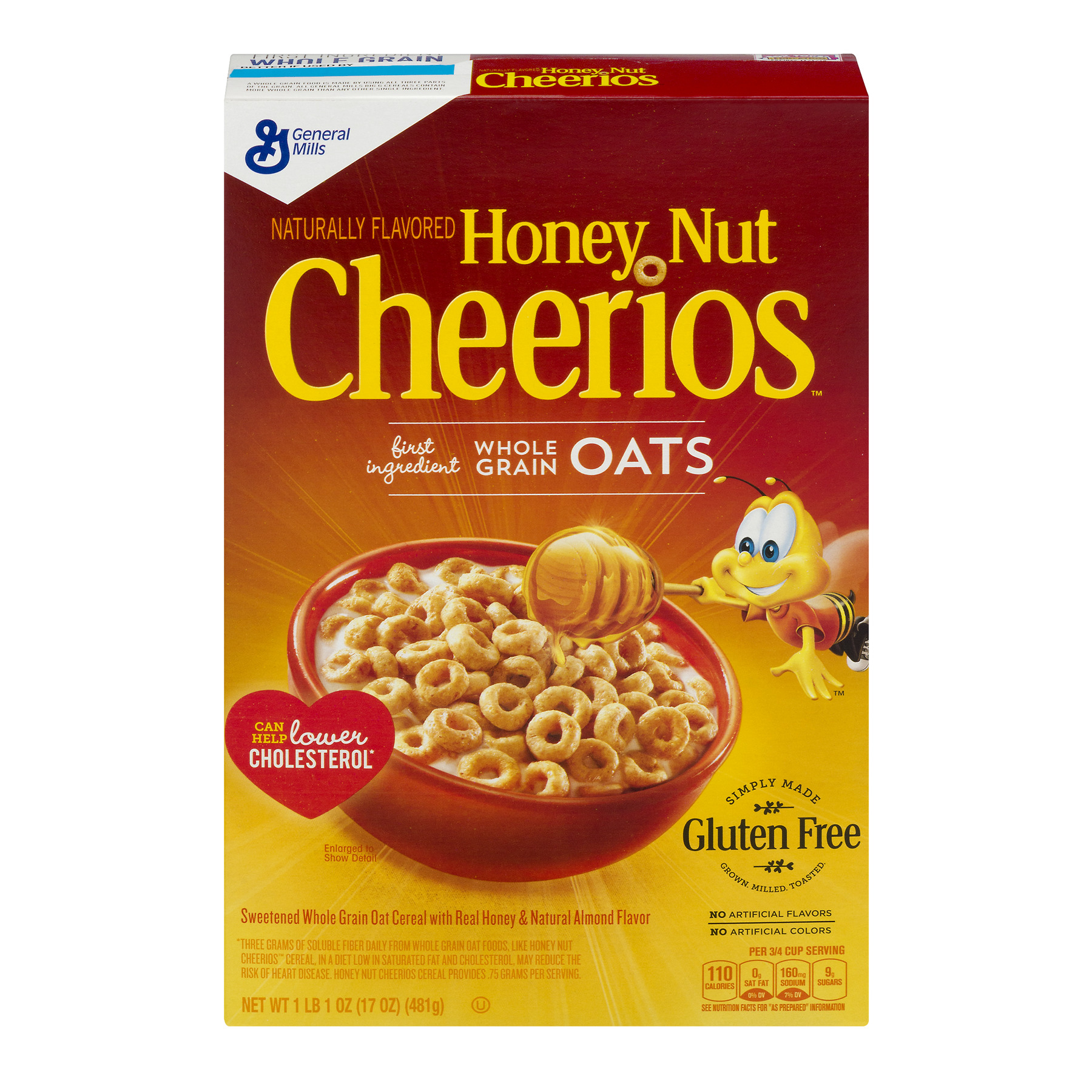 Honey Nut Cheerios Gluten Free Cereal 17 oz Box