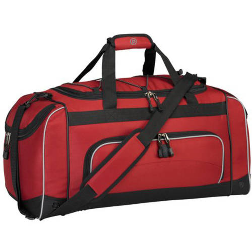 """24"""" Duffel with Wet Shoe Pocket, Red"""