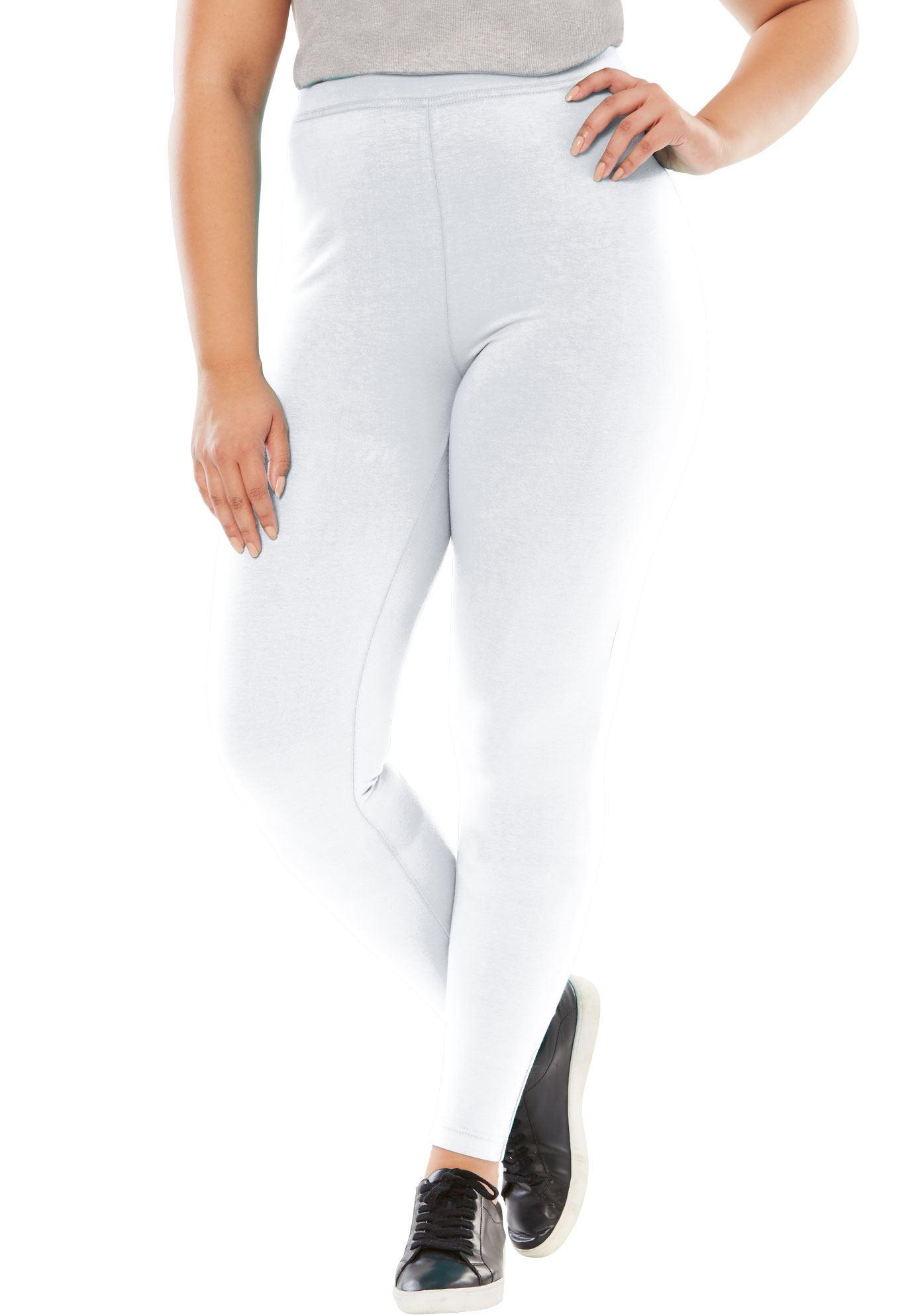 Woman Within Plus Size Petite Stretch Cotton Legging