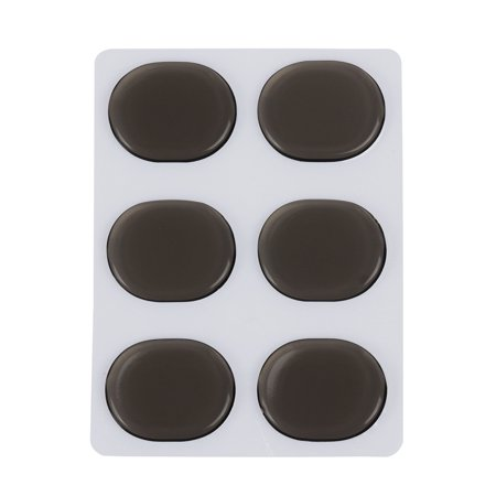 6pcs/set Drum Damper Gel Pads Snare Tom Drum Muffler Mute Coffee (Best Snare Drum Head For Rock)