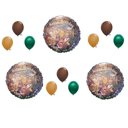 deer hunting camouflage birthday party balloons favors decorations supplies](Hunting Party Supplies)
